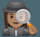 Эмодзи 🕵🏽♀️ Google