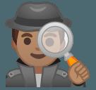Эмодзи 🕵🏽♂️ Google