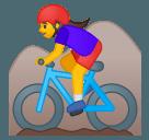 Эмодзи 🚵♀ Google