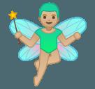 Эмодзи 🧚🏼♂️ Google